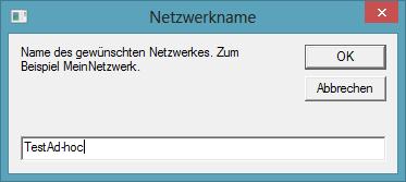 Abbildung 9 Name des Netzwerkes eingeben