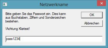 Abbildung 10 Eingabe des Passwortes