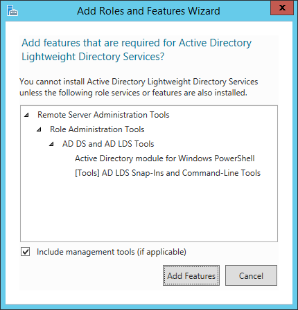 Server Roles - Active Directory Lightweight Directory Services - Wizard