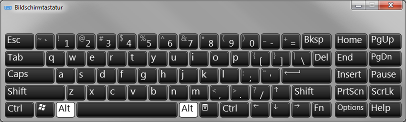 Tastaturlayout Englisch