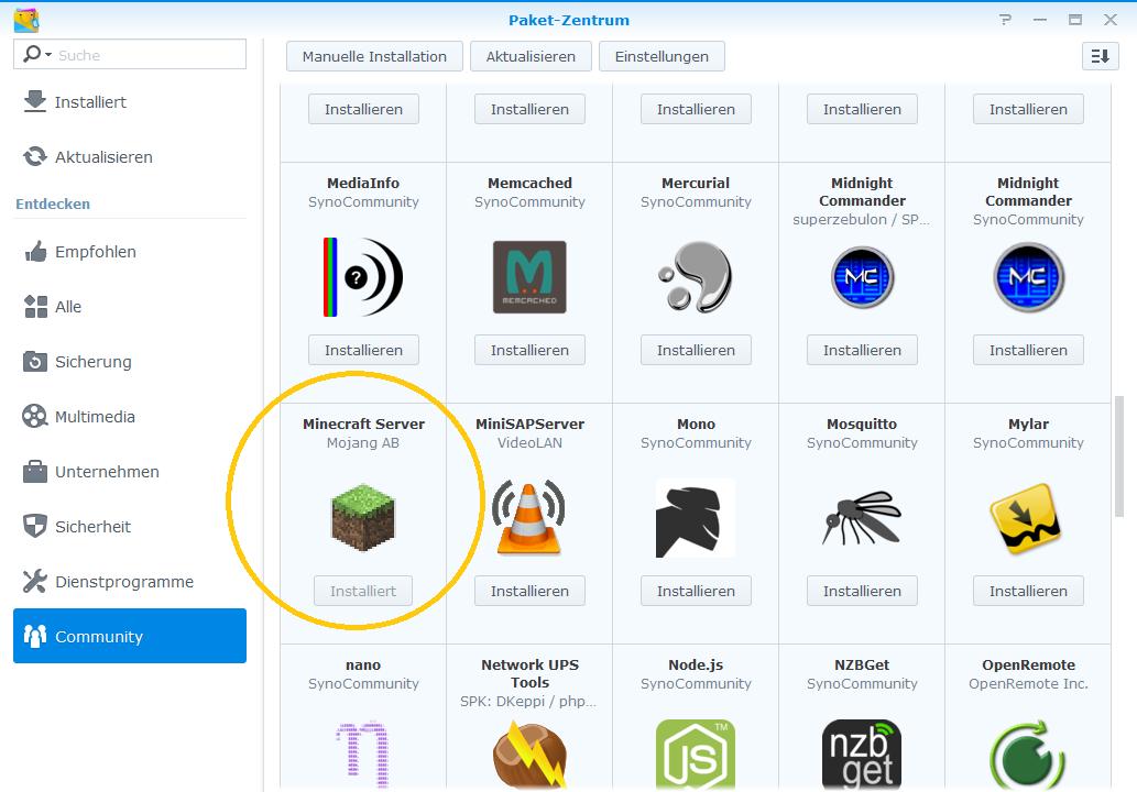 Synology Minecraft Mit FTB Direwolf Auf Einem Synology - Minecraft server erstellen synology